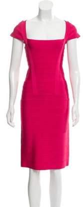 Herve Leger Knee-Length Bandage Dress w/ Tags Knee-Length Bandage Dress w/ Tags