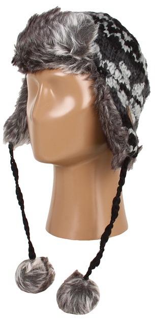 Dakine Kira Knit Trapper Cap (Black) Caps