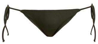 Matteau - The String Side Tie Bikini Briefs - Womens - Dark Green