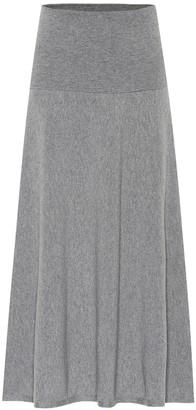 Stella McCartney Wool-blend knit midi skirt