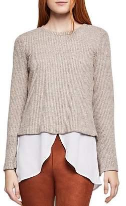 BCBGeneration Layered-Look Rib-Knit Sweater