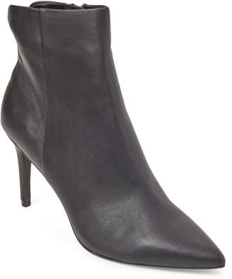 Steve Madden Steven By Black Leiland Leather Pointed Toe Booties