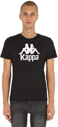 Kappa Logo Printed Cotton Jersey Tshirt