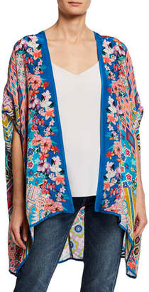 Tolani Noelle Printed Half-Sleeve Kimono Jacket
