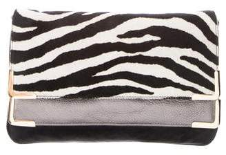 MICHAEL Michael Kors Pony Hair & Leather-Blend Clutch