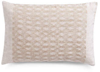 Vera Wang Striped Silk Decorative Down-Fill Throw Pillow