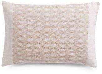 Vera Wang Striped Silk Decorative Down-Fill Throw Pillow