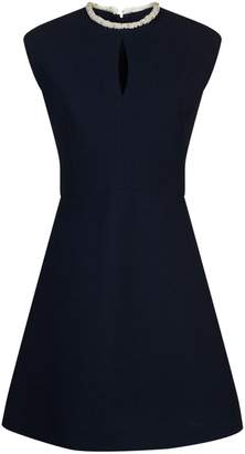 Sandro Embellished A-Line Mini Dress