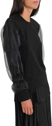 Noir Kei Ninomiya T-shirt With Tulle Dubbed Long Sleeves