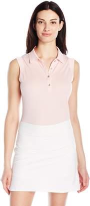 Cutter & Buck Women's Moisture Wicking Sleeveless Charlie Oxford Polo Shirt