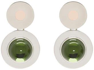 Marni Green Mod Screw Earrings