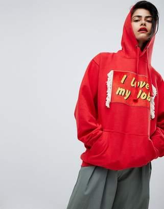 House of Holland Unisex I Love My Job hoodie