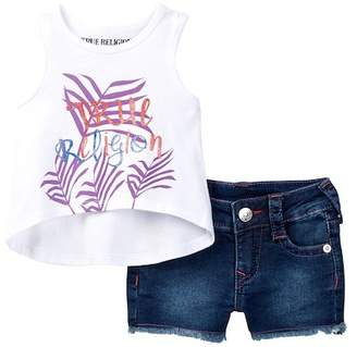 True Religion Tropical Vibes Tank & Short Set (Baby Girls) $79 thestylecure.com