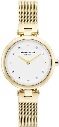 Kenneth Cole New York Ladies Gold Tone Mesh Bracelet Watch 28mm