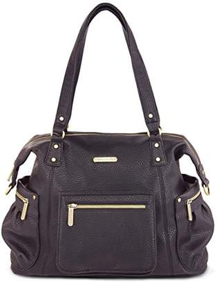 Timi & Leslie Abby Diaper Bag Set (Pebble Black, 7-Piece)