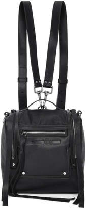 McQ Black Mini Convertible Box Backpack