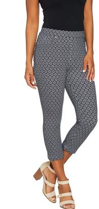 Susan Graver Weekend Printed French Knit Capri Pants