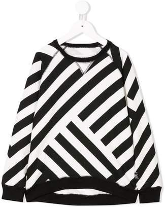 Nununu geometric paneled sweatshirt