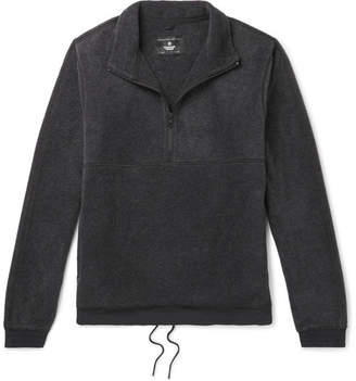 Reigning Champ Contrast-Trimmed Polartec Fleece Half-Zip Sweater