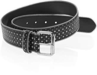 """Unbranded Women's 1 1/2"""" Laser-Cut Glitter Belt"""