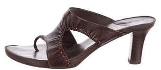 Henry Beguelin Leather Slide Sandals