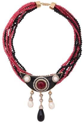 Valentino PRE-OWNED multi strand beaded necklace
