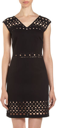 Laundry by Shelli Segal Cutout Knit Dress
