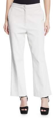 PARTOW Hadley High-Waist Waxed Denim Flare Pants