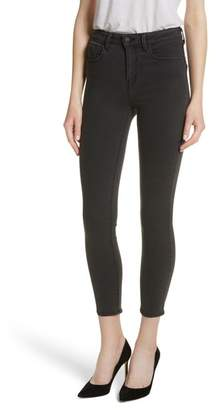 L'Agence Margot Coated Crop Skinny Jeans
