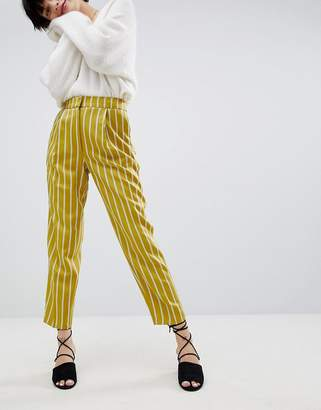 Warehouse Stripe Tapered Pants