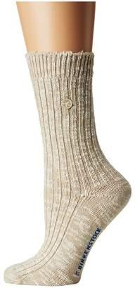Birkenstock Cotton Slub Socks Women's Crew Cut Socks Shoes