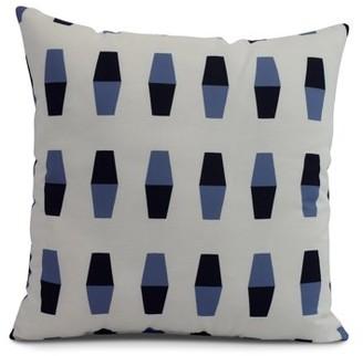 Simply Daisy, 26 x 26 inch, Bowling Pins, Geometric Print Pillow, Navy Blue