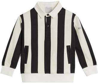 Burberry TEEN Striped Cotton Jersey Rugby Shirt