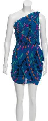 Mara Hoffman One-Shoulder Printed Dress