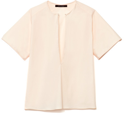 Wes Gordon Preorder Stretch Cotton Shirting Short Sleeve Blouse