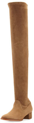 Manolo Blahnik Pascalare 30mm Over-The-Knee Boot $1,695 thestylecure.com