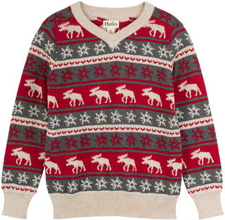 Hatley Fair Isle Moose Sweater