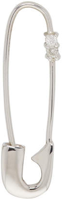 Lauren Klassen White Gold Single Diamond Safety Pin Earring