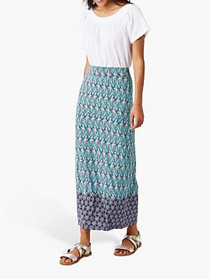White Stuff Amora Patterned Maxi Skirt, Navy