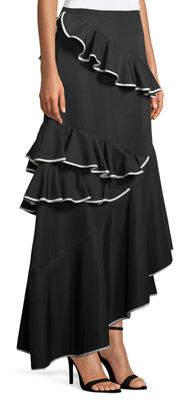 Sachin + Babi Helena Asymmetric Ottoman Maxi Skirt