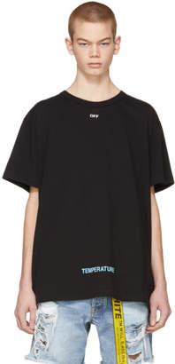 Off-White Black Diagonal Temperature T-Shirt