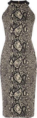 Karen Millen Snakeskin Pencil Dress