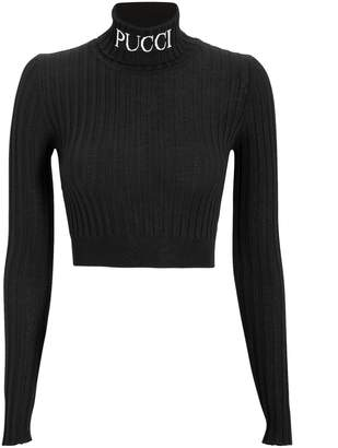 Emilio Pucci Logo Cropped Sweater