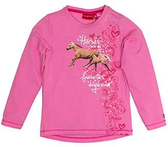 Salt&Pepper Salt and Pepper Girl's Horses Photoprint Longsleeve T-Shirt