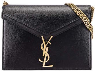 Saint Laurent Medium Monogramme Cassandra Crossbody Bag in Black | FWRD