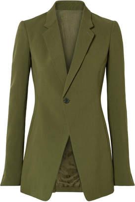 Rick Owens Wool-crepe Blazer - Army green