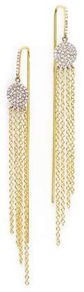 Meira T 14K Yellow Gold and 14K White Gold Fringe Earrings with Diamonds