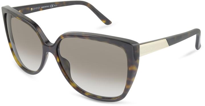 Gucci Women's Logo Square Frame Sunglasses