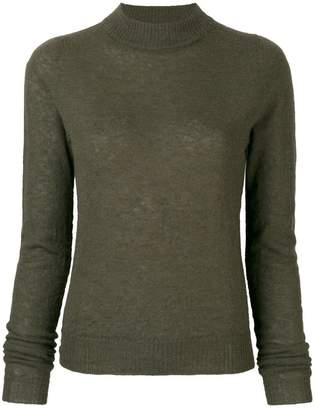Rick Owens long-sleeve knitted sweater