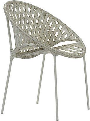 David Francis Furniture Tik-Tak Stacking Chair - Whitewash